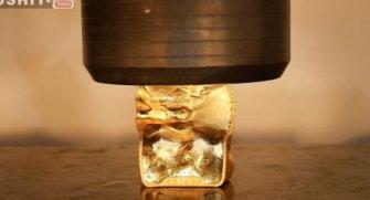 Alışılmışların dışında bir video 40 bin dolarlık altın bar ve pres makinası