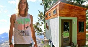 Masraflarını azaltmak için kendine küçük bir ev yapan üniversite öğrencisinin doğayla bütün aynı zamanda şık tasarımlı bu evi sizi içine çekecek!